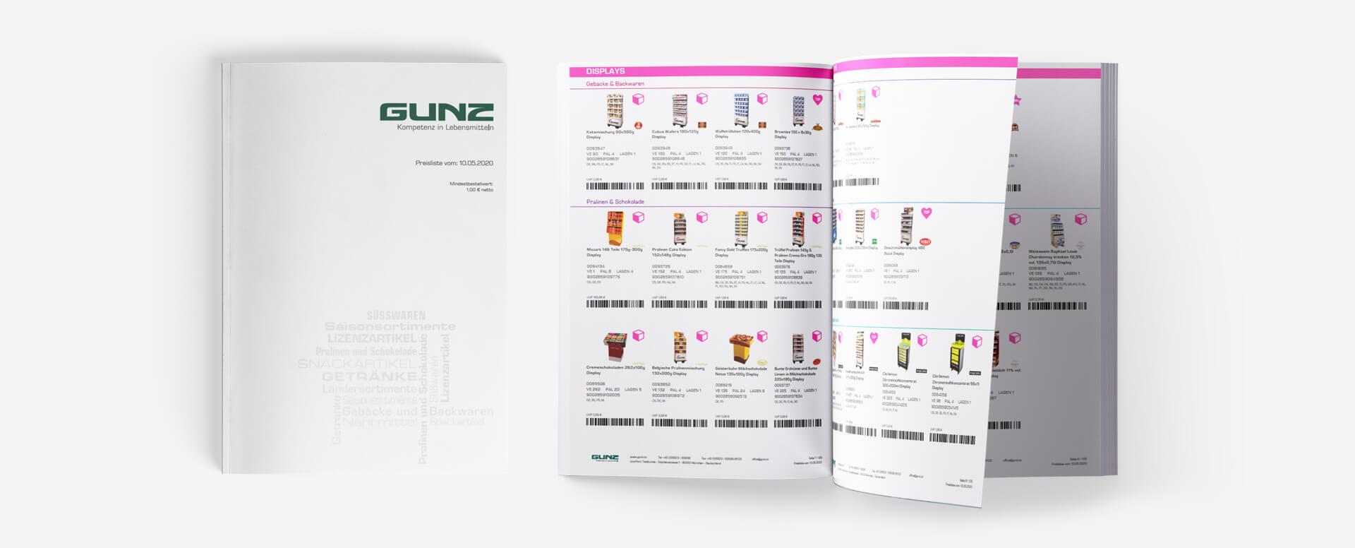 Database Publishing GUNZ Preisliste by ICONPARC