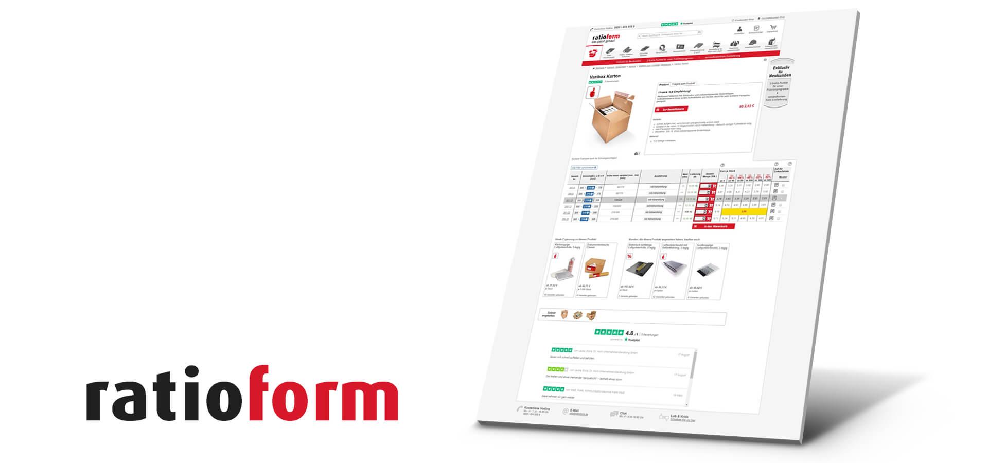 ratioform E Business B2B Screen