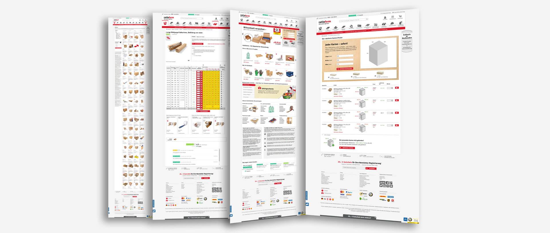 ratioform E Business B2B Screens