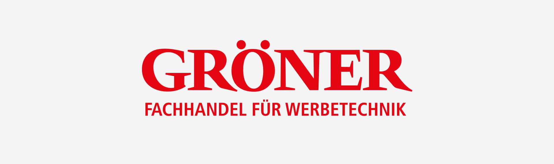 Groener Logo auf grau