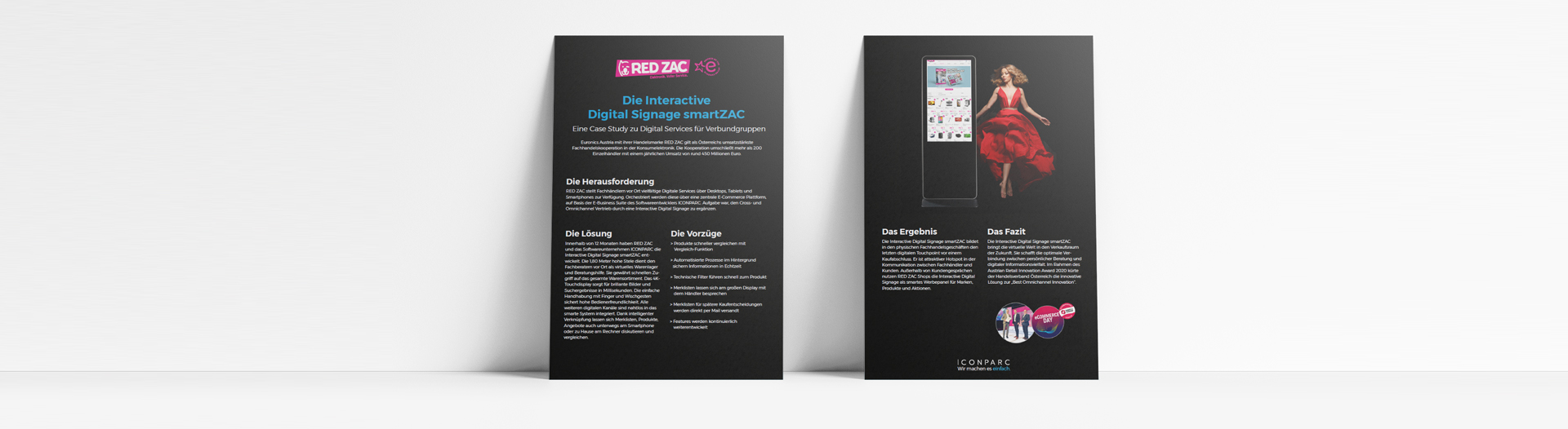 Case Study RED ZAC Digital Signage ICONPARC